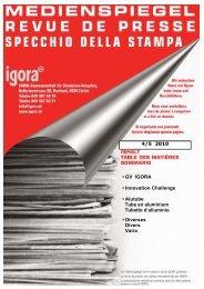 • GV IGORA • Innovation Challenge • Alutube Tube en aluminium ...