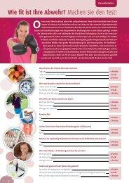 Wie fit ist Ihre Abwehr - Machen Sie den Test.pdf - MedizInfo