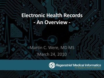 Electronic Health Records - An Overview - - TREE