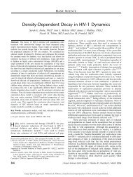 Density-Dependent Decay in HIV-1 Dynamics - TREE