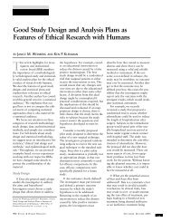 Good Study Design and Analysis Plans as Features of Ethical ...