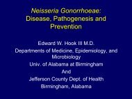 Neisseria Gonorrhoeae: Disease, Pathogenesis and ... - TREE