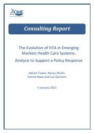 The Evolution of HTA in Emerging Markets Health-Care ... - TREE
