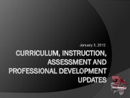 Curriculum, Instruction, Assessment, and Prof