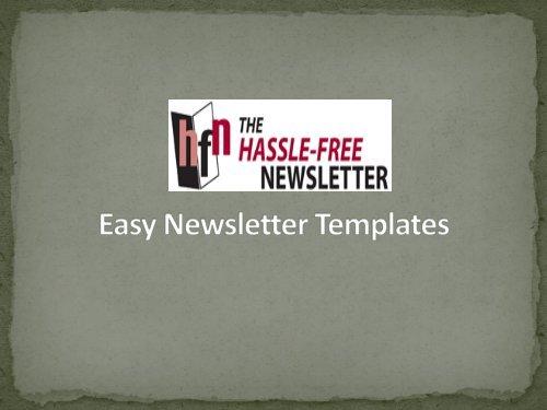 Easy Newsletter Templates