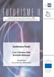 FUTURISME II – L'avenir du dialogue social dans les ... - UEAPME