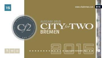 CITYforTWO BREMEN | Limitierte Ausgabe 2015