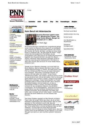 Kein Beruf mit Aktentasche - Susanne Bormann