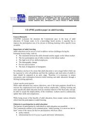 UEAPME position paper on adult learning