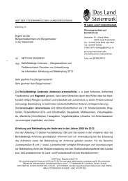 Infoschreiben Land Steiermark