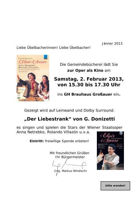 """""""Der Liebestrank"""" von G. Donizetti Samstag, 2. Februar 2013, von ..."""