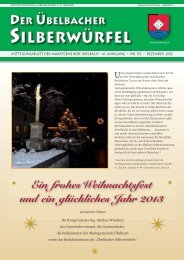 Liebe Übelbacher! - Marktgemeinde Übelbach