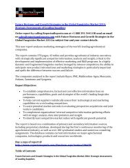 Animal Health Market Research Report 2014: Business, New Product Development and Marketing Strategies Analyzed
