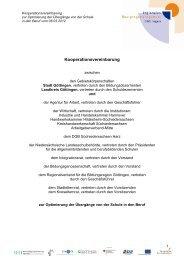 Kooperationsvereinbarung zur Optimierung der Übergänge Schule ...