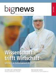 BIG News 2/2008 - WFB Wirtschaftsförderung Bremen GmbH