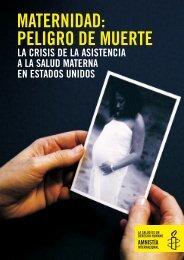MATERNIDAD: PELIGRO DE MUERTE - Centro de Documentación ...