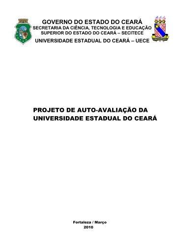 Projeto de Autoavaliação da UECE - Universidade Estadual do Ceará