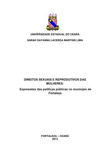 DIREITOS SEXUAIS E REPRODUTIVOS DAS MULHERES ...