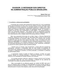 ouvidor: o defensor dos direitos na administração pública brasileira