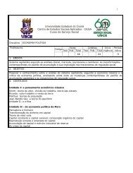 Economia Política - Universidade Estadual do Ceará