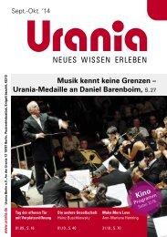 Musik kennt keine Grenzen – Urania-Medaille an Daniel Barenboim, Kino