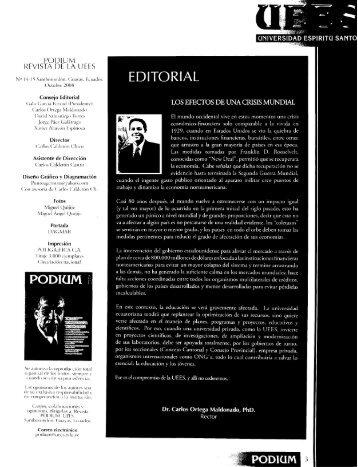 revista podium no. 14 - 15 octubre 2008 - Universidad de ...