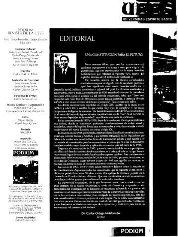 revista podium no. 9 - 10 julio 2007 - Universidad de Especialidades ...