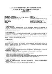 formato de syllabus - Universidad de Especialidades Espíritu Santo