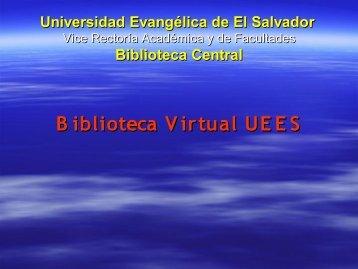 Diapositiva 1 - Universidad Evangélica de El Salvador