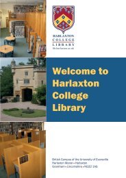 Library Booklet 2011 - Harlaxton College