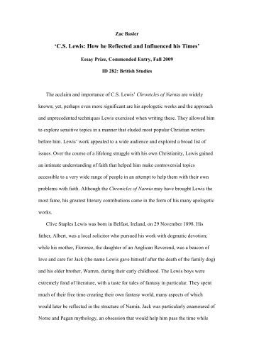 a literary analysis of a case for christianity by c s lewis Free online library: cs lewis: the anti-platonic platonist(essay) by christianity and literature literature, writing, book reviews philosophy and religion political science authors criticism and interpretation analysis platonism platonists writers.