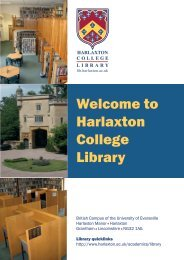 Library Guide - Harlaxton College