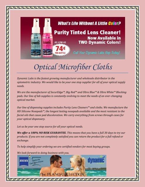c3af14a24ca Optical Microfiber Cloths