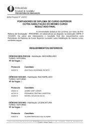 Edital 009/2010 - Portadores de Diploma de Curso Superior