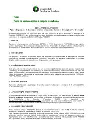 Edital FAEPE 06/2011 - Universidade Estadual de Londrina