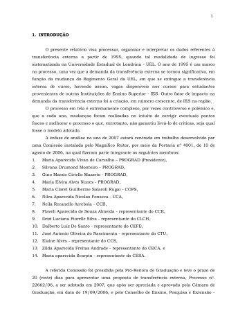 Relatório da Transferência Externa - Universidade Estadual de ...