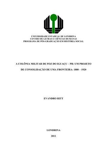 EVANDRO RITT - Universidade Estadual de Londrina