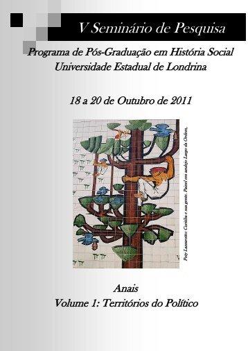 Anais - Territórios do Político - vol. 1 - Universidade Estadual de ...