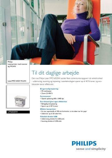 LFF6020W/INB Philips Laserprinter med scanner og WLAN