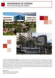UNIVERSIDAD DE VERANO - Universidad Europea de Madrid