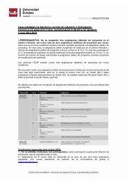 ESCUELA DE ARQUITECTURA - Universidad Europea de Madrid