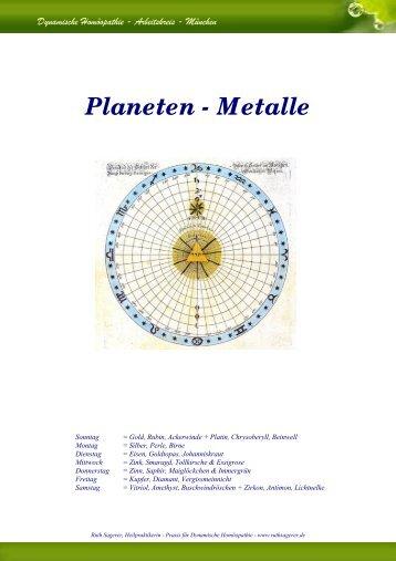 Planeten - Metalle - Ruth Sagerer