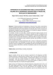 experiencia de sostenibilidad para la educación envalores en la ...