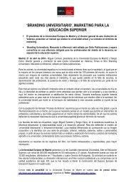 branding universitario - Universidad Europea de Madrid