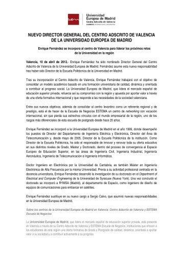 nuevo director general del centro adscrito de valencia de la ...