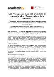 """Los Príncipes de Asturias presidirán el homenaje a los """"Tesoros ..."""