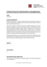 Cultural tourism destination management