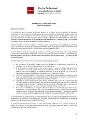 NORMATIVA DEL CENTRO PROFESIONAL EUROPEO DE ...