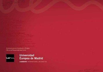 Memoria de Responsabilidad Social de la Universidad Europea de ...