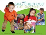 Utah's Early Childhood Core Standards - Utah Education Network